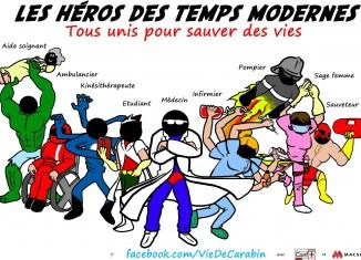 """""""Les héros des temps modernes"""" par Vie de Carabin"""