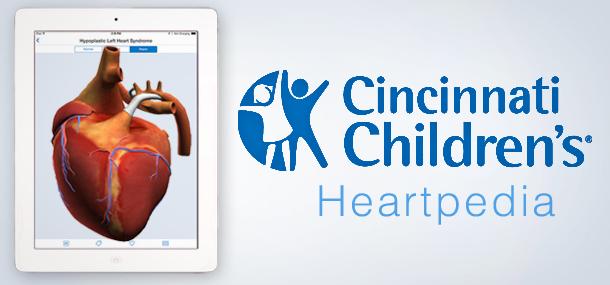 HeartPedia, l'application gratuite par le Cincinntati Children's Hospital