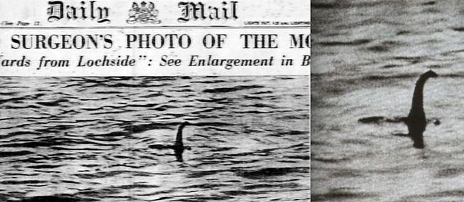 Le Monstre du Loch Ness à la Une du Daily Mail du 21 avril 1934